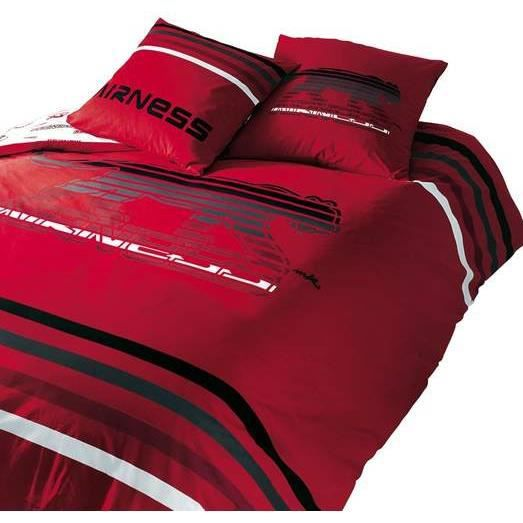 Parure de lit housse de couette airness 200x200cm achat vente parure de - Cdiscount parure de lit ...