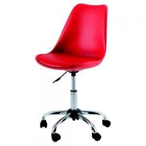 Chaises de bureau design ir ne x2 rouge achat vente chaise de bureau ro - Chaise de bureau rouge ...