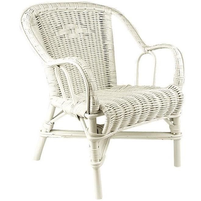 Fauteuil en rotin blanc achat vente fauteuil blanc for Soldes chaises rotin
