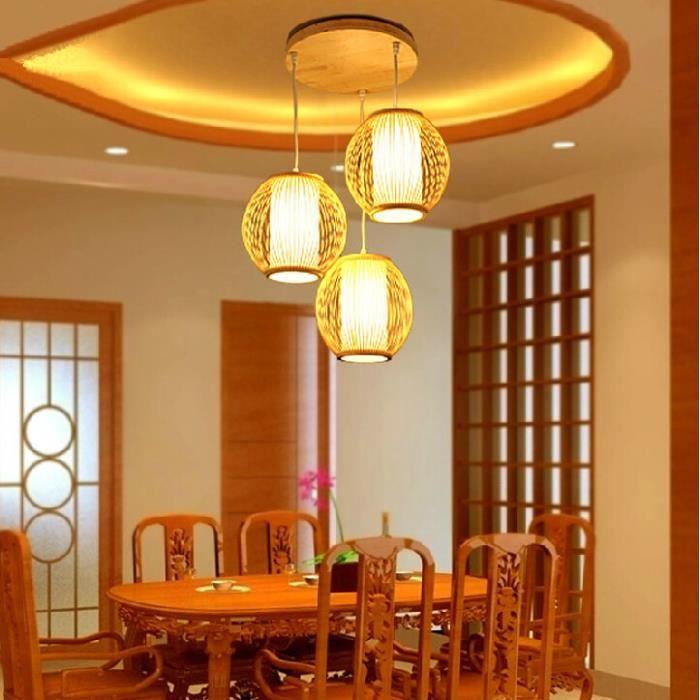 Lampes de bambou créative restaurant chinois moderne trois ...