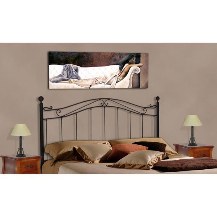 t te de lit en fer forg mod le cristina achat vente t te de lit cdiscount. Black Bedroom Furniture Sets. Home Design Ideas
