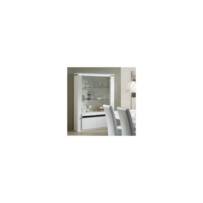 Vaisselier blanc et noir laqu design glasgo blanc et - Vaisselier laque blanc ...
