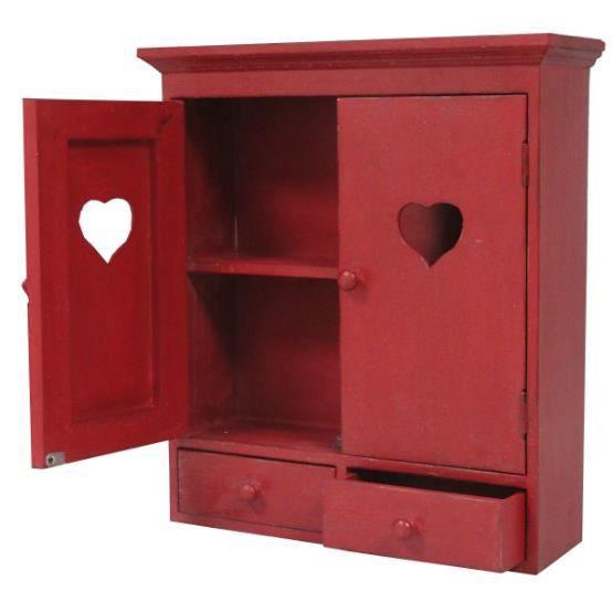 Armoire de rangement coeur achat vente armoire de toilette armoire de ran - Cdiscount armoire de rangement ...