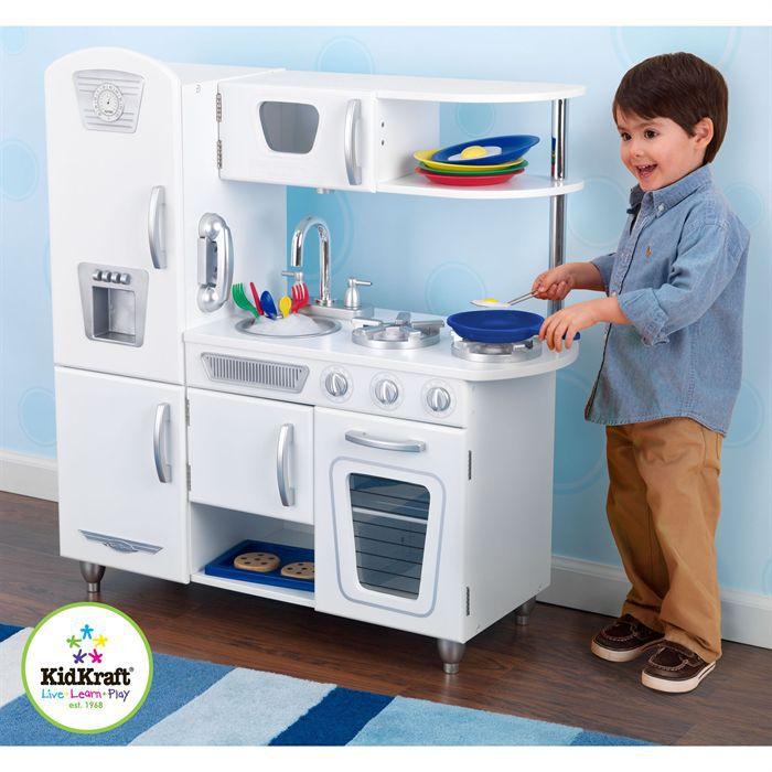 kidkraft cuisine enfant vintage blanche kidkraft en bois achat vente dinette cuisine. Black Bedroom Furniture Sets. Home Design Ideas