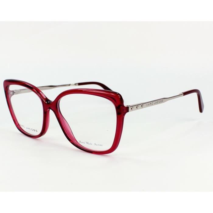 lunettes de vue marc jacobs mj 615 sa6 rouge transparent argent rouge argent transparent. Black Bedroom Furniture Sets. Home Design Ideas