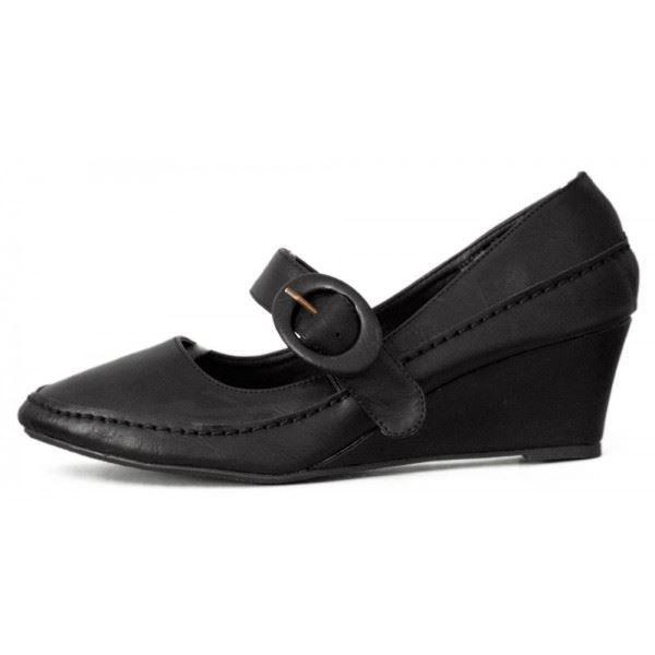 chaussures femme babies talon co achat vente chaussures femme babies tal noir pas cher. Black Bedroom Furniture Sets. Home Design Ideas