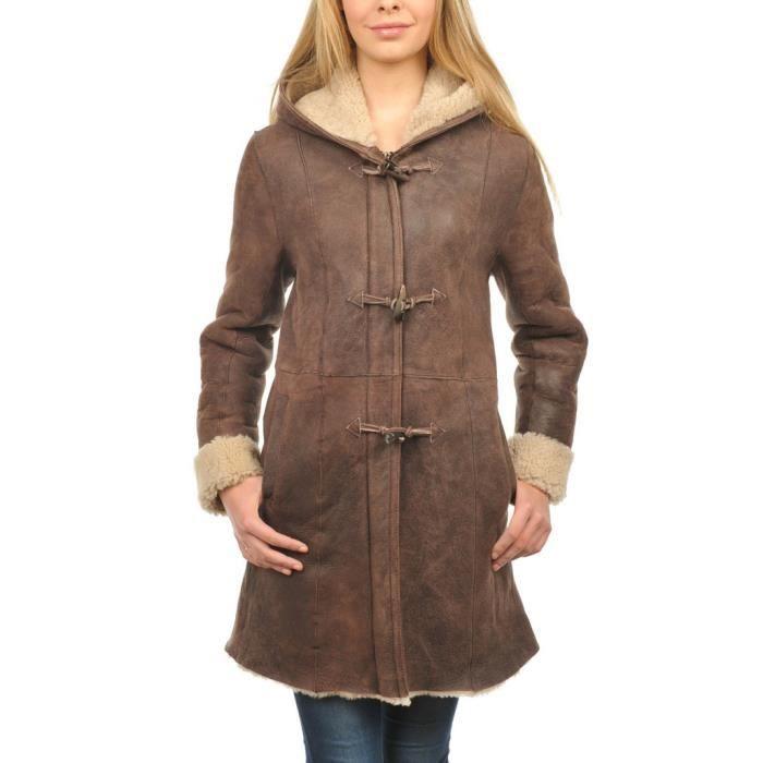 manteau cuir femme arturo elisa marron marron achat. Black Bedroom Furniture Sets. Home Design Ideas