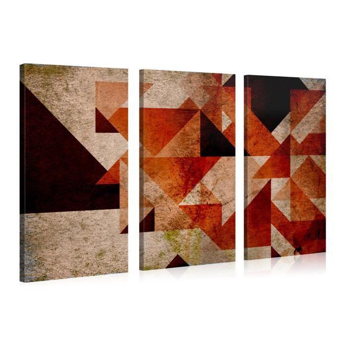 tableau d co sur toile g om trie rouge 120x80cm achat vente tableau toile toile bois. Black Bedroom Furniture Sets. Home Design Ideas