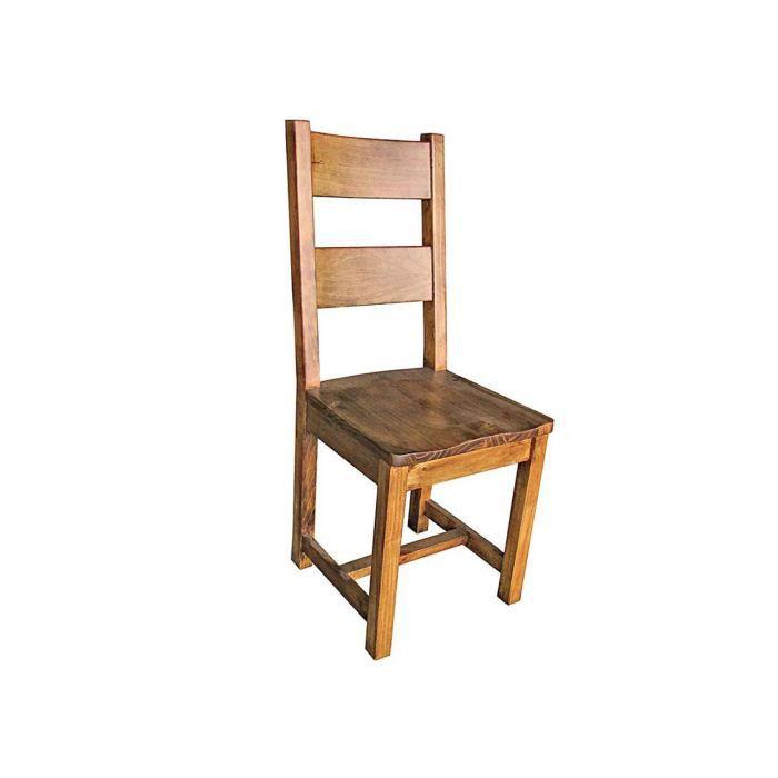 chaise en pin massif teint et cir halifax tek achat vente chaise fauteuil jardin chaise. Black Bedroom Furniture Sets. Home Design Ideas