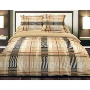 parure de lit flanelle 140 190 achat vente parure de lit flanelle 140 190 pas cher cdiscount. Black Bedroom Furniture Sets. Home Design Ideas