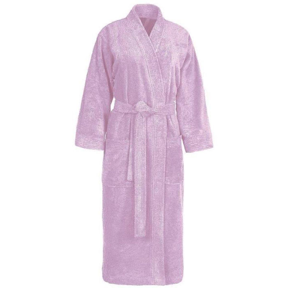 Peignoir col kimono en coton couleur parme tail…   achat / vente ...
