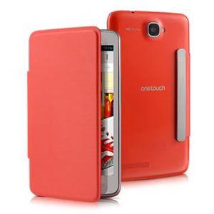 HOUSSE - ÉTUI Protection avant à rabat rouge Alcatel One Touch S