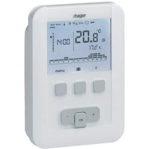 PIÈCE CHAUFFAGE CLIM Thermostat A Programmation Digitale Hager Filaire