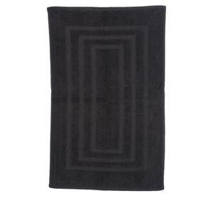 Tapis salle de bains noir achat vente tapis salle de - Tapis salle de bain noir ...