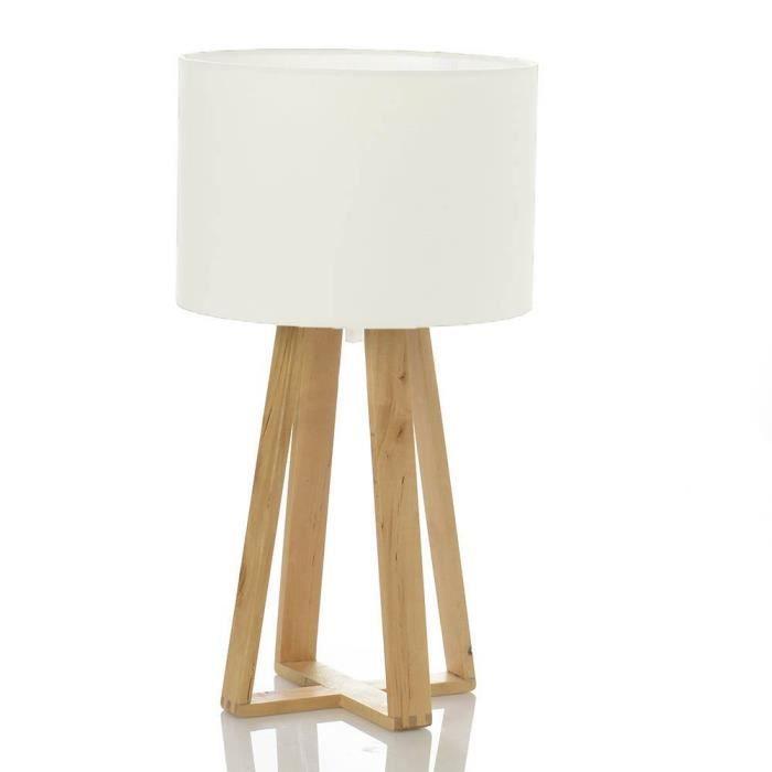 lampe a poser pied en bois