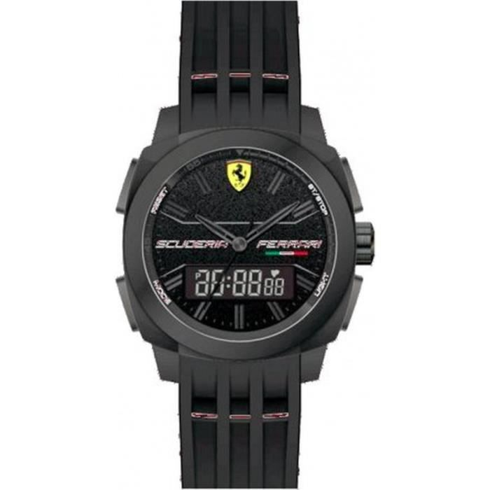 ferrari 830122 montre homme analogique digitale bracelet plastique achat vente montre. Black Bedroom Furniture Sets. Home Design Ideas