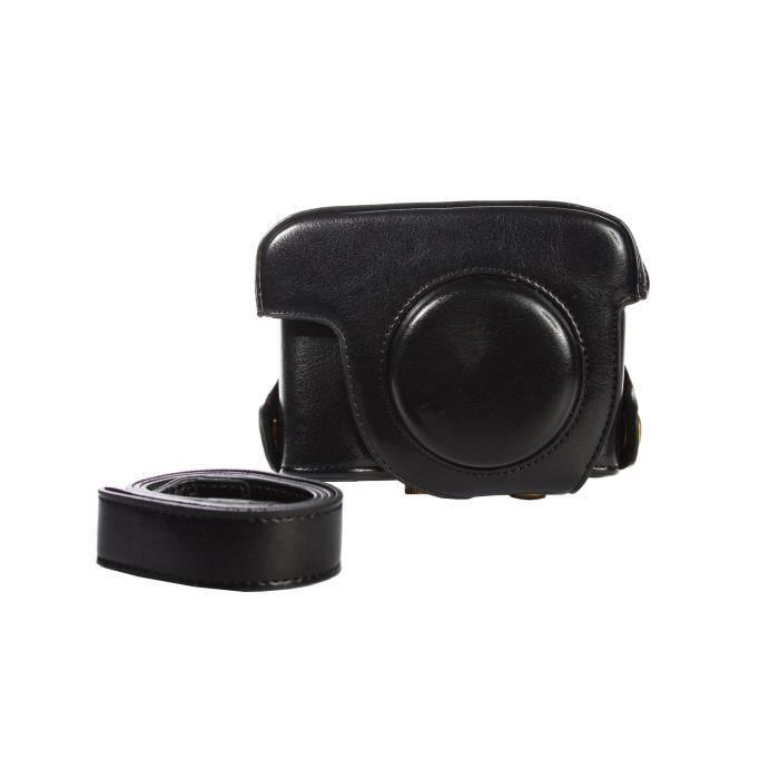 Housse en cuir pour l 39 appareil de photo pour canon for Housse appareil photo canon