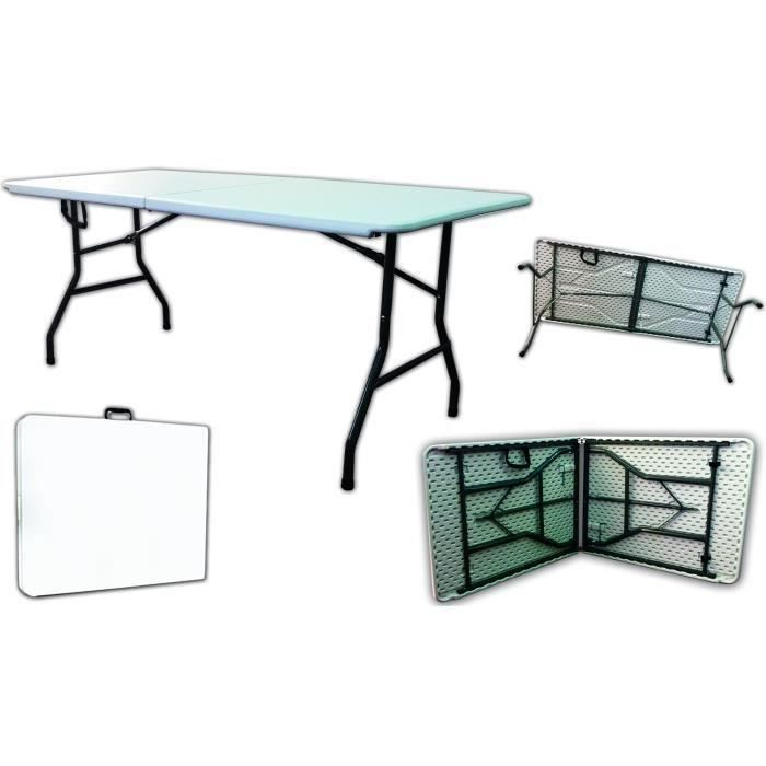 Table camping buffet traiteur pliante portable achat for Buffet avec table integree
