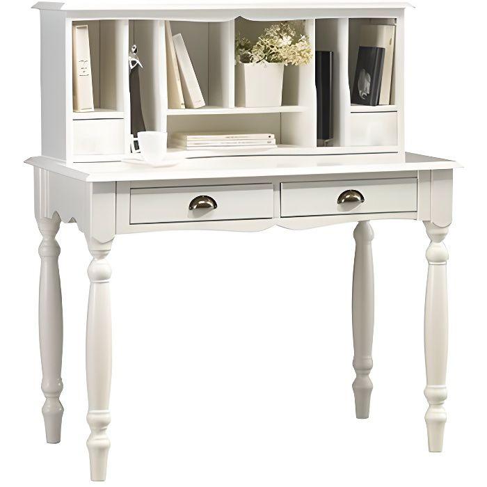 bonheur du jour blanc de style anglais achat vente bureau bonheur du jour blanc de st bois. Black Bedroom Furniture Sets. Home Design Ideas