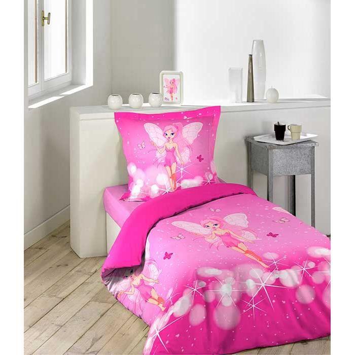parure de couette 2 pi ces 140x200 petite fee achat vente parure de couette cdiscount. Black Bedroom Furniture Sets. Home Design Ideas