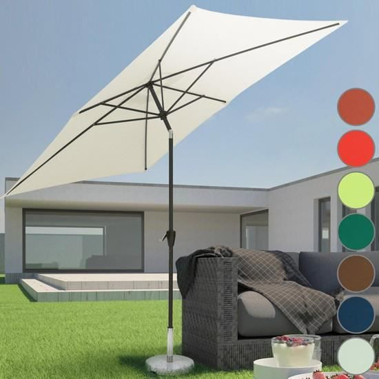 parasol rectangulaire 2m 3m achat vente parasol. Black Bedroom Furniture Sets. Home Design Ideas