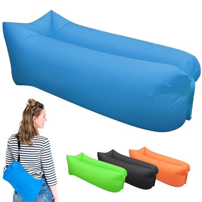 Bleu rapide gonflable canap air sommeil camping sofa for Canape gonflable exterieur