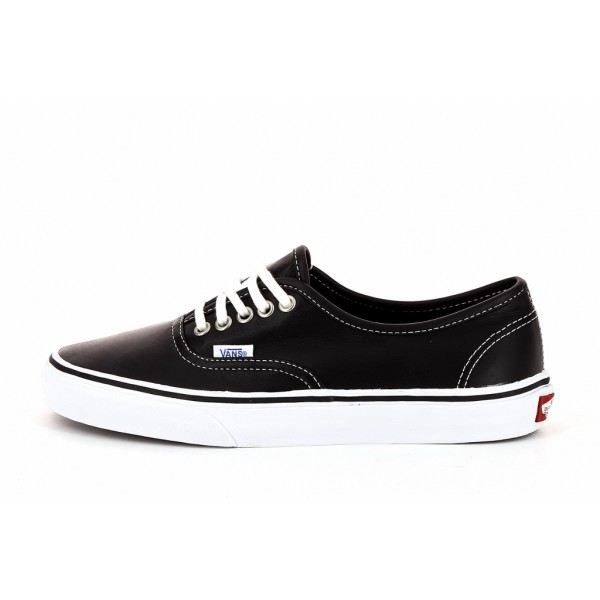 basket vans authentic low cuir femme noir achat vente basket vans authentic low c femme. Black Bedroom Furniture Sets. Home Design Ideas