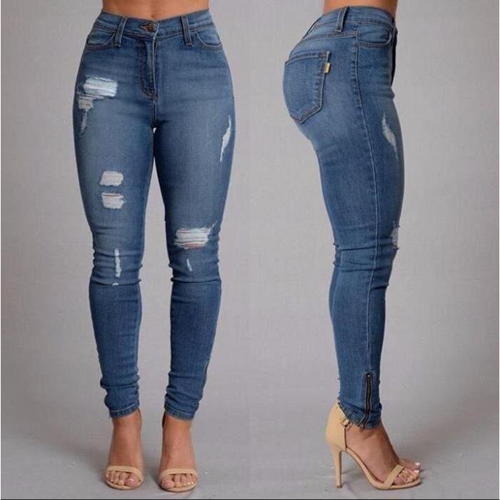 pantalon jean elastique femme achat vente pantalon jean elastique femme pas cher les. Black Bedroom Furniture Sets. Home Design Ideas