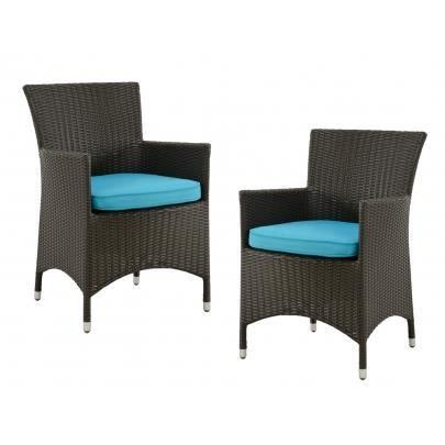 Lot de 2 fauteuils d 39 exterieur alanda r sine tre achat vente fauteu - Fauteuil exterieur resine ...