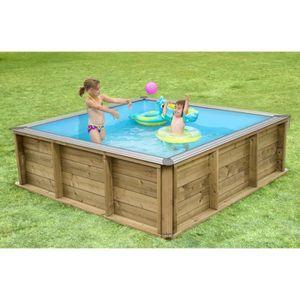 piscine bois carre achat vente piscine bois carre pas cher les soldes sur cdiscount. Black Bedroom Furniture Sets. Home Design Ideas