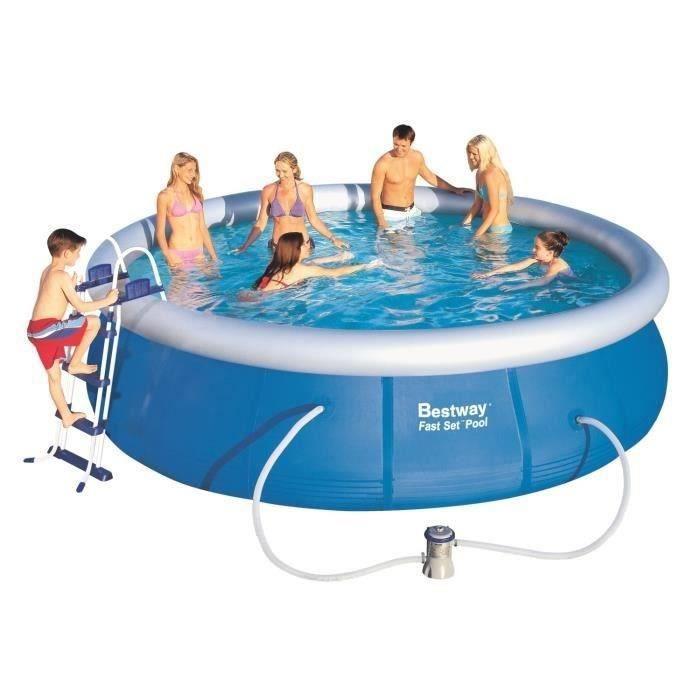Bestway fast set pools kit piscine ronde autoportante 4 57 for Piscine autostable