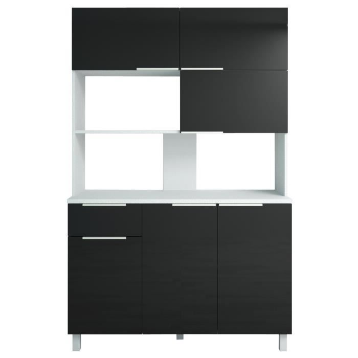 lova buffet de cuisine l 120 cm noir brillant achat vente buffet de cuisine buffet cuisine. Black Bedroom Furniture Sets. Home Design Ideas
