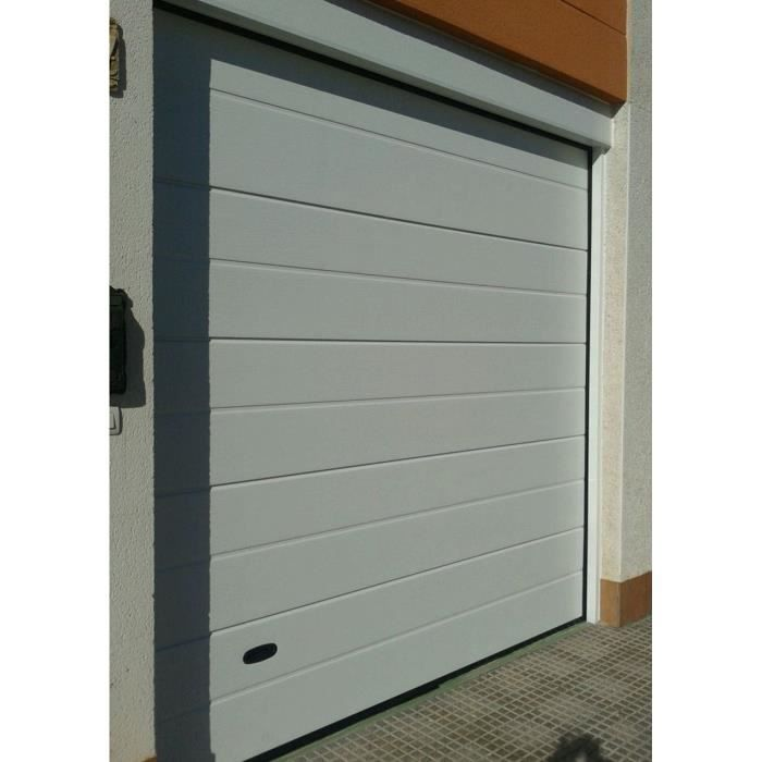 Porte de garage manuelle sectionnelle rainur e 250x200cm for Porte de garage sectionnelle 3x3