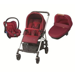 BEBE CONFORT Poussette Combinée Trio Streety Amber - Robin Red