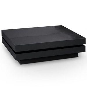 Table basse noire laqu e achat vente table basse noire - Table basse laquee noire ...