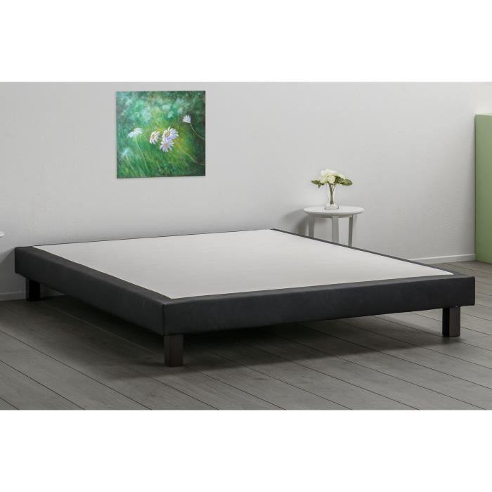 deko dream sommier 140x190cm en simili pieds achat vente sommier cdiscount. Black Bedroom Furniture Sets. Home Design Ideas