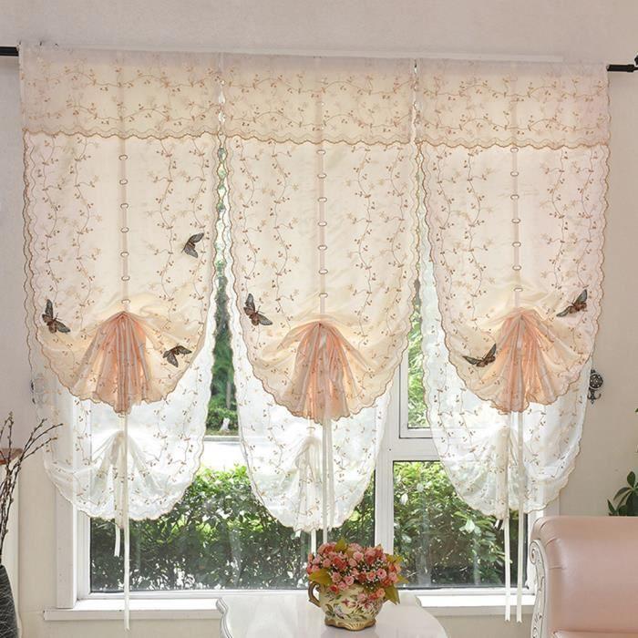 Cafe 80 140cm 1 pc rideau pour fen tre de salon chambre for Decoration maison rideaux fenetre