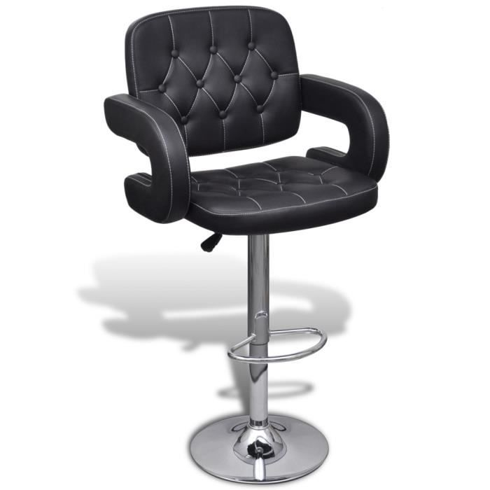 chaises de bar 2 tabourets de bar avec accoudoirs. Black Bedroom Furniture Sets. Home Design Ideas
