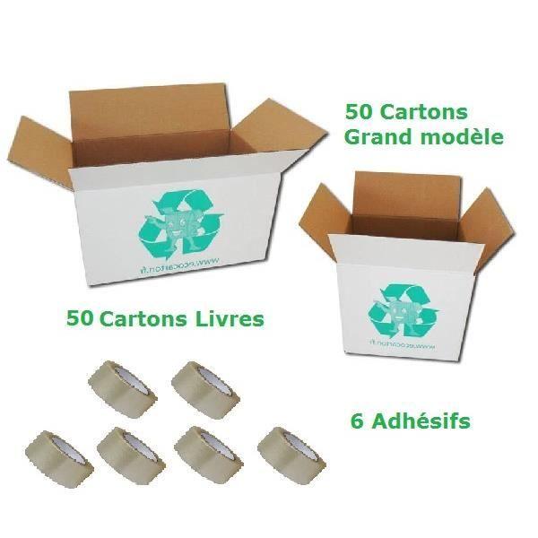 Pack de 100 cartons d m nagement 6 adh sifs achat vente kit demenagement cdiscount - Achat carton demenagement ...