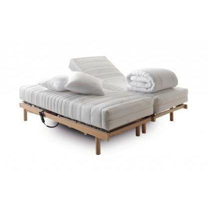 Ensemble literie relaxation pocket lola 2x80x200cm achat vente sommier et - Sommier et matelas 120x190 ...
