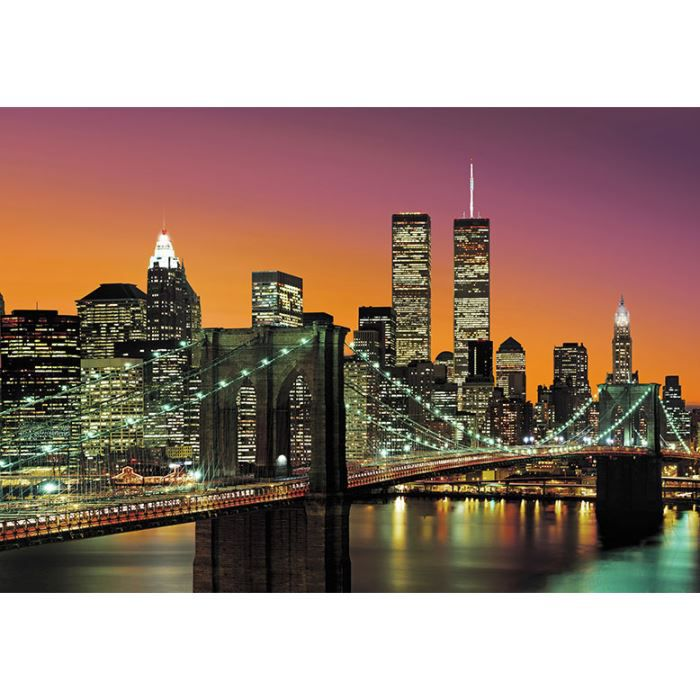 poster geant intisse new york city 366 x 254 achat vente tableau toile cdiscount. Black Bedroom Furniture Sets. Home Design Ideas