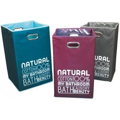 panier linge pliable natural couleur violet achat vente panier a linge panier linge. Black Bedroom Furniture Sets. Home Design Ideas