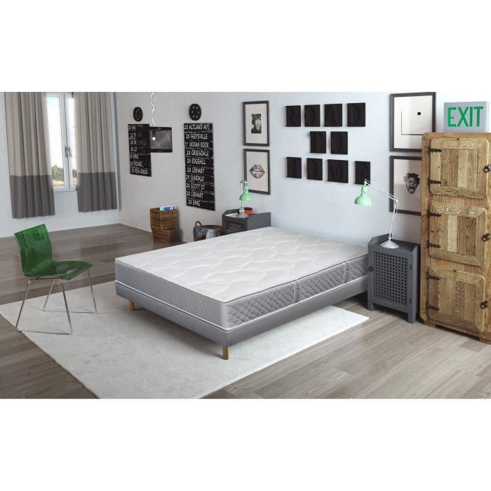 finlandek kevat ensemble matelas sommier kevat 140x190 cm ressorts tapissier equilibr. Black Bedroom Furniture Sets. Home Design Ideas