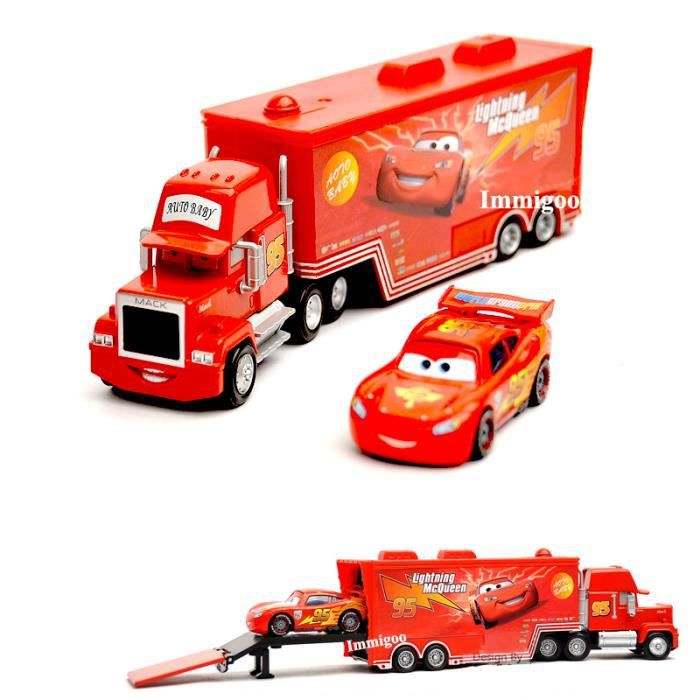 immigoo cars c 01 flash lightning mcqueen et c 95 mack truck camion 2 voitures v hicules jouet. Black Bedroom Furniture Sets. Home Design Ideas