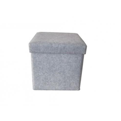 pouf feutre gris cube achat vente pouf poire cdiscount. Black Bedroom Furniture Sets. Home Design Ideas