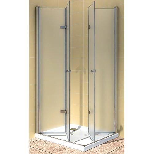 Portes de douche pliantes 100 x 80 x 190 cm achat vente cabine de douche portes de douche Porte de douche 100 cm