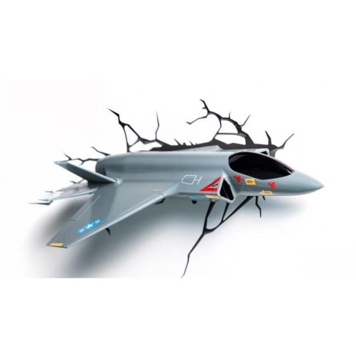 3d deco light lampe murale avion de chasse achat vente. Black Bedroom Furniture Sets. Home Design Ideas
