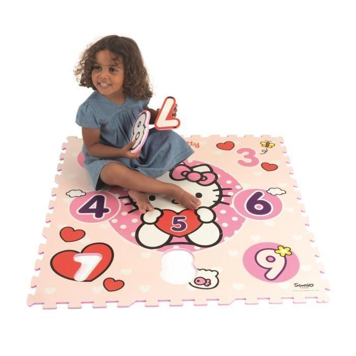 Hello Kitty Dalles De Jeu 123 C Urs Rose Avec Motifs Achat Vente Tapis Veil Aire B B
