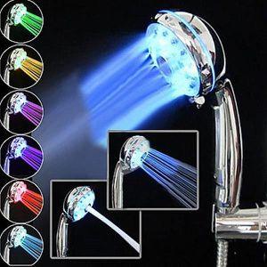 DOUCHETTE - FLEXIBLE 3 LED de couleur pomme de douche capteur de tempér