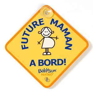BÉBÉ À BORD  Babysun double signalétique bébé et future maman à